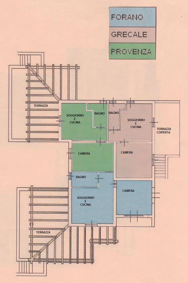le planimetrie degli appartamenti casa vacanze le pitte